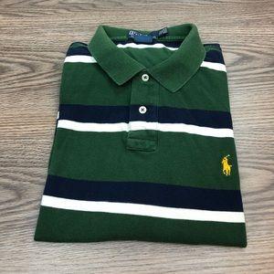 Polo Ralph Lauren Green Stripe Polo Shirt XXL